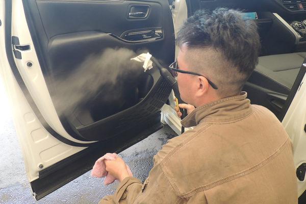 車内清掃_スチーム
